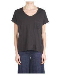 Replay - Women's Black Cotton T-shirt - Lyst