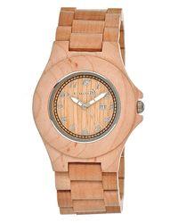 Earth Wood - Natural Xylem Bracelet Watch - Lyst