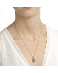 Jewelista - Multicolor Pyramid Cabochon Blue Topaz 18-inch Necklace - Lyst