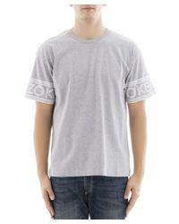 KENZO - Gray Men's Grey Cotton T-shirt for Men - Lyst