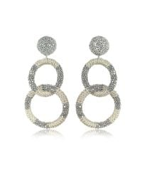 Oscar de la Renta - Metallic Women's Silver Other Materials Earrings - Lyst