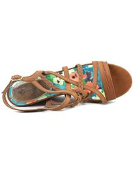 Madden Girl - Brown Eagerr Open Toe Synthetic Wedge Heel - Lyst
