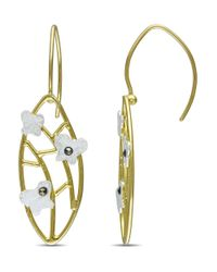 Catherine Malandrino - Metallic Lattice Butterfly Marcasite Earrings - Lyst