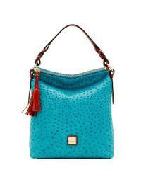 Dooney & Bourke - Blue Ostrich Small Sloan Bag - Lyst