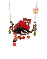 Les Nereides - Kind And Happy Leonie The Red Panda Wearing Her Red Cape On Her Fruity Branch - Lyst