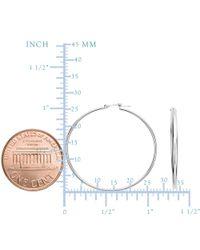 JewelryAffairs - 10k White Gold 1.5mm Shiny Round Tube Hoop Earrings - Lyst