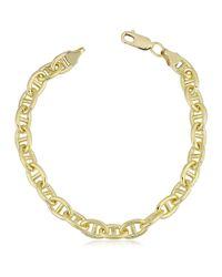 JewelryAffairs - 14k Yellow Gold Filled Mariner Chain Bracelet, 6.6mm, 8.5 for Men - Lyst