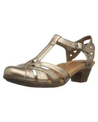Cobb Hill - Gray Womens Aubrey Leather Closed Toe Casual Strappy Sandals - Lyst