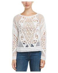 Ella Moss | Natural Esmeralda Crochet Sweater | Lyst