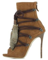 DSquared² - Women's Brown Suede Ankle Boots - Lyst