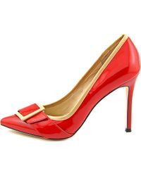 Carolinna Espinosa | Red Saunderson Women Pointed Toe Patent Leather Heels | Lyst