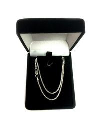 JewelryAffairs - White Sterling Silver Rhodium Plated Sparkle Chain Necklace, 1,5mm, 18 - Lyst