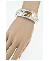 Jewelista - Yellow Sterling Silver & Citrine Quilted Bangle - Lyst