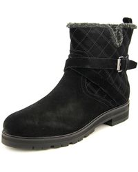 Marc Fisher | Black Nasha Women Round Toe Suede Ankle Boot | Lyst