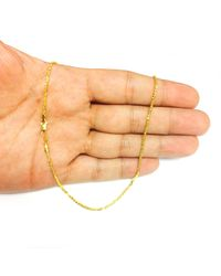 JewelryAffairs - Multicolor 14k Yellow Gold Sparkle Chain Necklace, 1.5mm, 20 Inch - Lyst