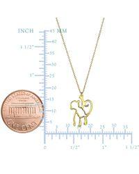 JewelryAffairs - 14k Yellow Gold Hanging Monkey Charm Chain Necklace, 18 - Lyst