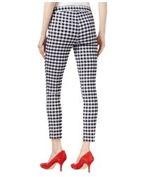 Maison Jules - Multicolor Gingham Print Pull-on Pants - Lyst