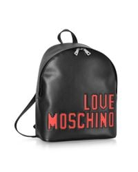 Love Moschino - Love Pixel Black Eco-leather Backpack - Lyst