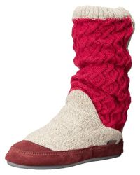 Acorn - Red Slouch Boot - Lyst