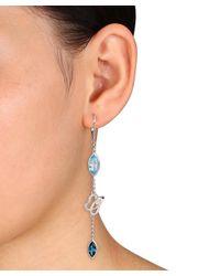 Julianna B - Metallic Blue Topaz & Swiss Blue Topaz London Leverback Earrings - Lyst