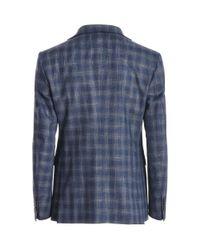 Tagliatore - Men's Blue Viscose Suit for Men - Lyst