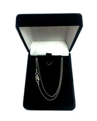 JewelryAffairs - Metallic Sterling Silver Rhodium Plated Rolo Chain Necklace, 1.4mm, 18 Inch - Lyst