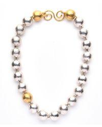 Gurhan   Metallic Short Single Strand Dome Necklace   Lyst