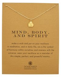 Dogeared - Metallic 14k Over Silver Mind Body And Spirit Necklace - Lyst