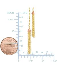 JewelryAffairs - 14k Yellow And Rose Gold Double Tassel Necklace, 18 - Lyst