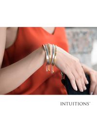 JewelryAffairs - Multicolor Intuitions Stainless Steel Born To Be Wild Diamond Accent Adjustable Bracelet - Lyst