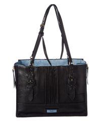 Prada - Black Etiquette Large Glace Leather Tote - Lyst