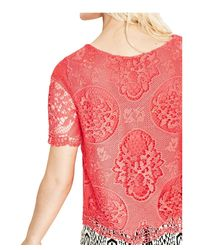 Desigual - Women's Red Cotton Blouse - Lyst