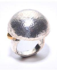 Gurhan - Metallic Round Dome Ring - Lyst