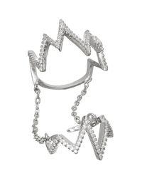 Sugar NY - Metallic Sprinkled Fizz Ring - Lyst