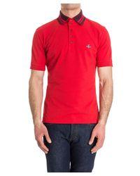 Vivienne Westwood - Men's Red Cotton Polo Shirt for Men - Lyst
