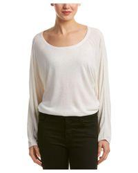 Splendid | Natural Reverse Seam Pullover | Lyst
