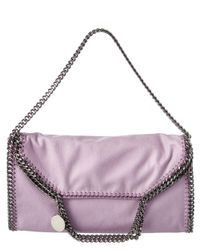Stella McCartney - Purple Falabella Shaggy Deer Fold Over Tote - Lyst