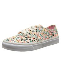 f1bf5db7e7 Lyst - Vans Womens Camden Stripe Low Top Lace Up Fashion Sneakers