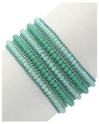 Sparkling Sage - Green Plated Resin Bracelet - Lyst