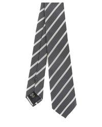 Z Zegna - Gray Men's Grey Silk Tie for Men - Lyst