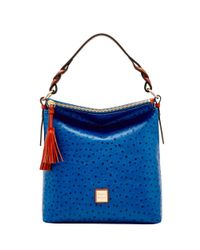 Dooney & Bourke | Blue Ostrich Small Sloan Bag | Lyst