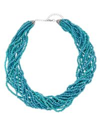 Kenneth Jay Lane - Metallic Plated Turquoise Necklace - Lyst