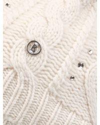 Bogner - White Cashmere Knit Hat Noki - Lyst