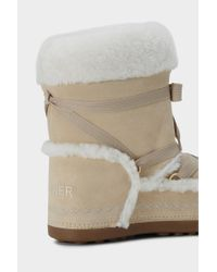 Bogner - Natural New Tignes Suede And Shearling Boots - Lyst