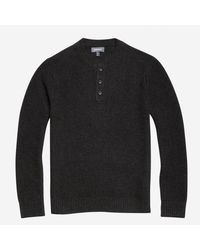 Bonobos - Gray Wool Cashmere Waffle Henley Sweater for Men - Lyst