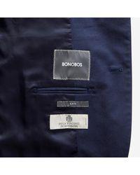 Bonobos - Blue Jetsetter Stretch Italian Cotton Suit Jacket for Men - Lyst
