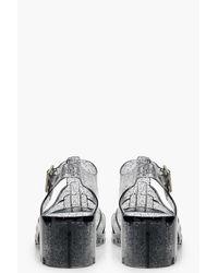 Boohoo Metallic Heeled Jelly Sandals