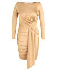 Boohoo - Multicolor Plus Slinky Tie Front Mini Dress - Lyst