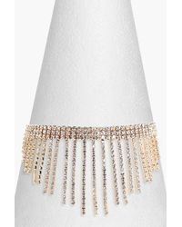 Boohoo - Metallic Susie Statement Waterfall Diamante Choker - Lyst
