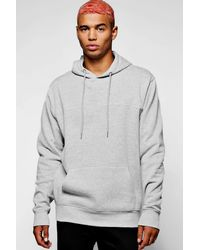 Boohoo | Gray Over The Head Hoodie With Piping for Men | Lyst